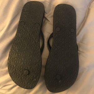 "Tory Burch Shoes - Tory Burch ""zebra"" thin flip flops - sz. 10, NEW"